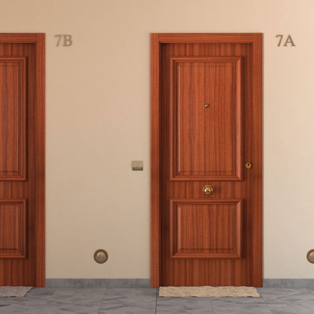 Puertas de exterior oviedo ebanister a los prados for Puertas macizas exterior